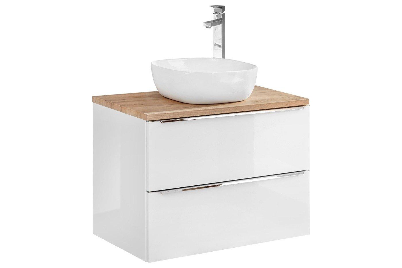 Szafka Z Umywalką I Blatem 60 Cm Capri Biały 820 Z Blatem